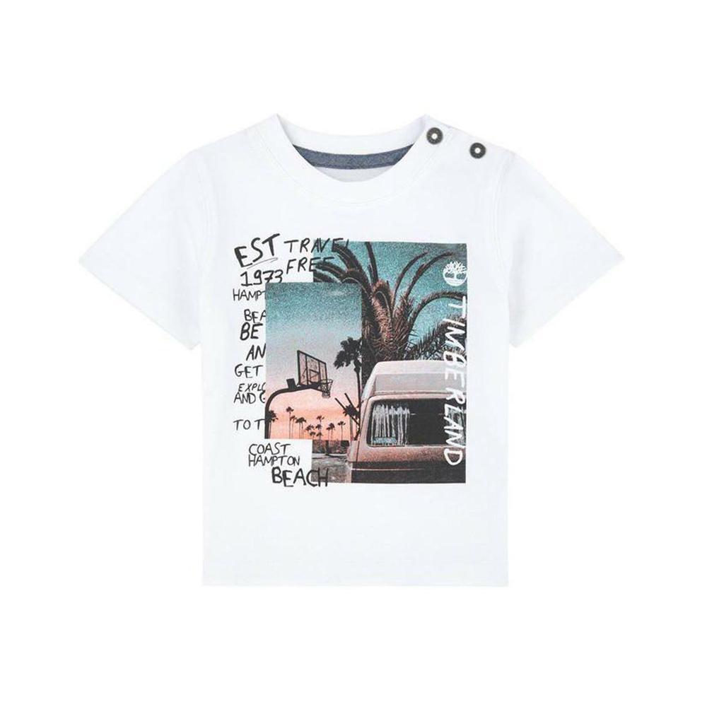 timberland timberland t-shirt bambino bianco t05j291