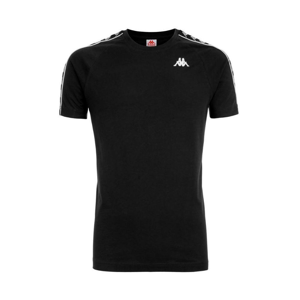kappa t-shirt kappa bambino nero nero 303uv10