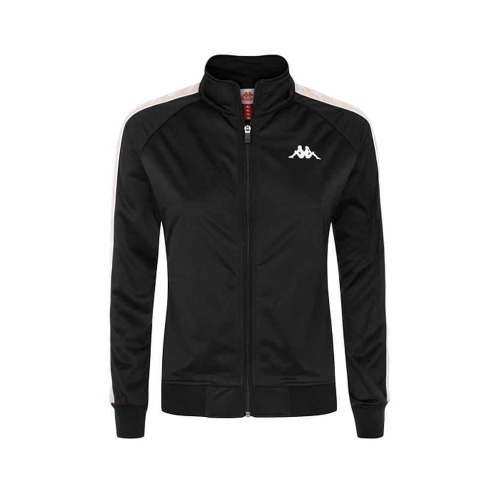 kappa felpa c/zip kappa donna nero rosa perla 301psc0