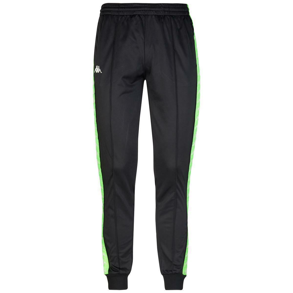 kappa kappa pantalone uomo nero verde fluo 303kuc0