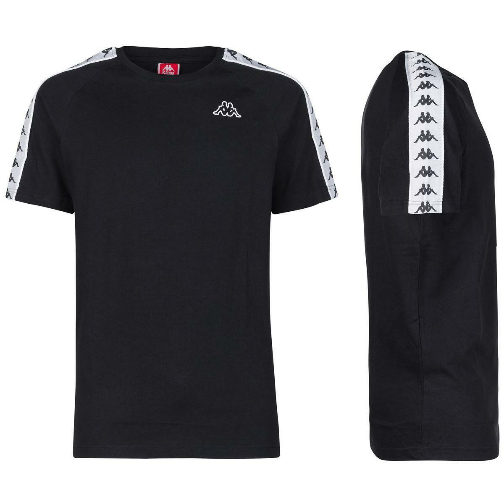 kappa kappa t-shirt uomo nero bianco 303uv10