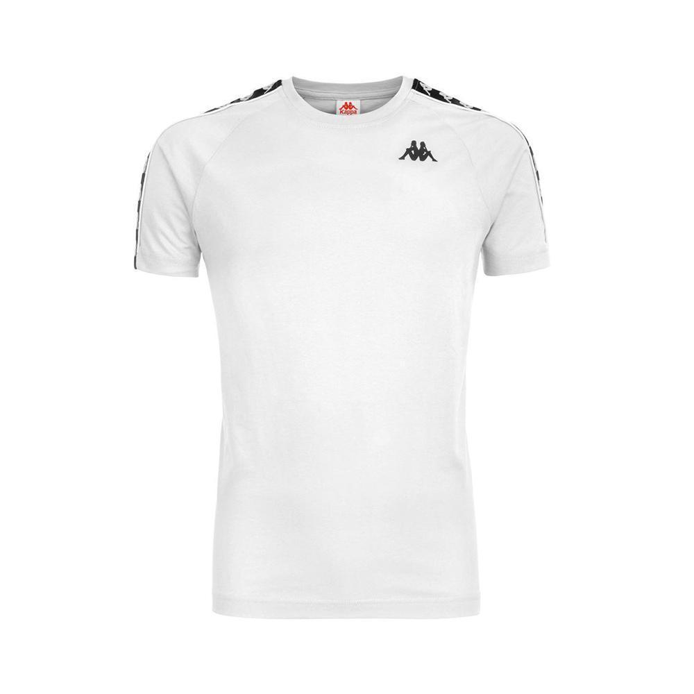 kappa t-shirt kappa a99 bianco/nero 303uv10