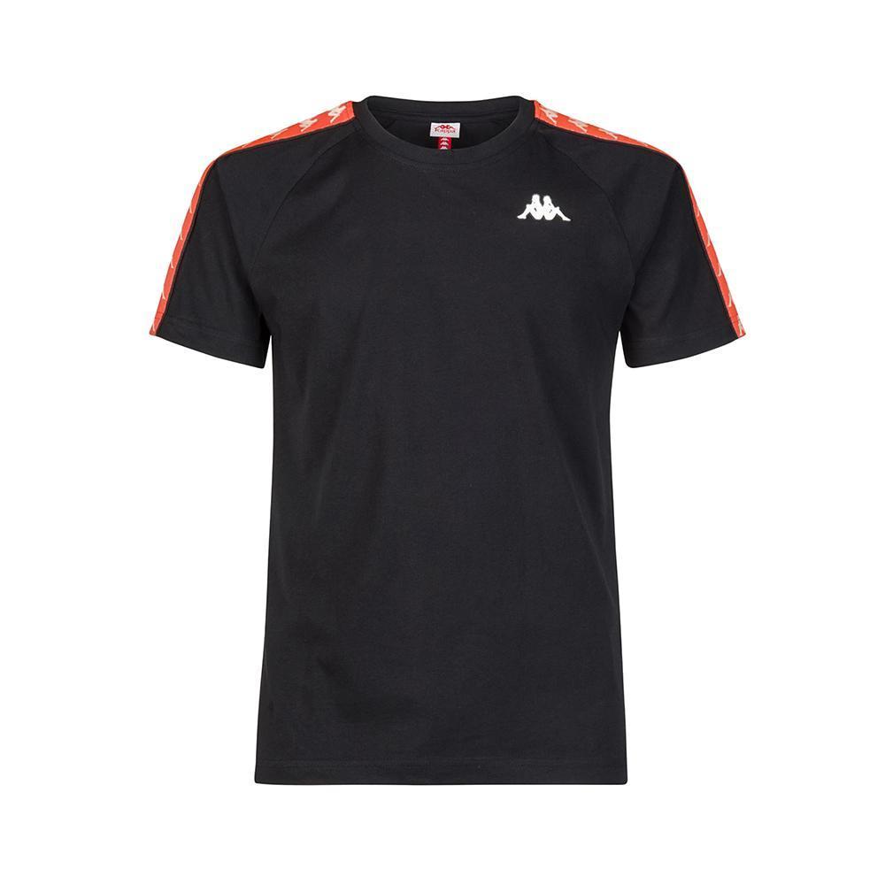 kappa kappa t-shirt uomo nero arancio 303uv10