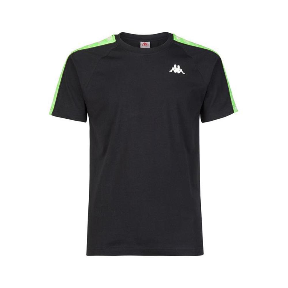 kappa kappa t-shirt uomo nero verde 303uv10