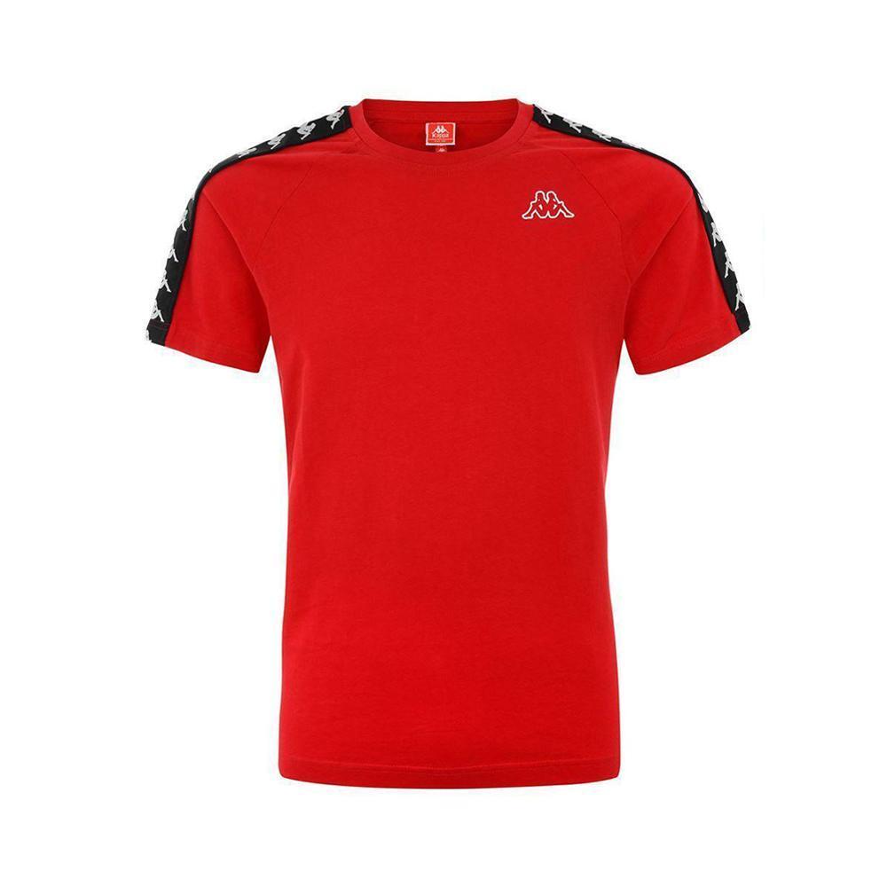 kappa kappa t-shirt uomo rosso nero 303uv10