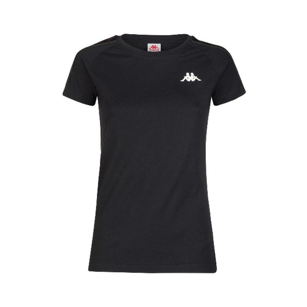 kappa kappa t-shirt donna nero bianco 303h1u0