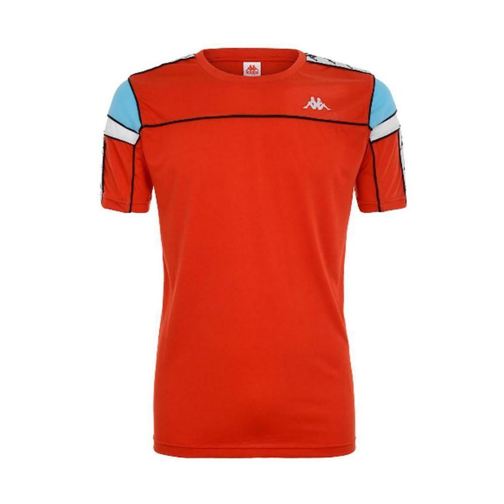 kappa kappa t-shirt uomo rosso bianco nero turchese 303wbs0