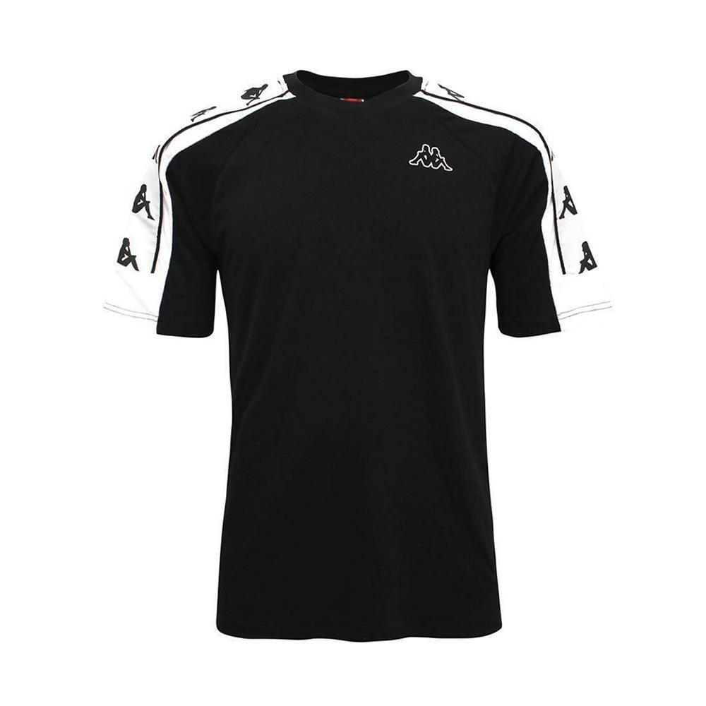 kappa kappa t-shirts uomo nero bianco 304i050