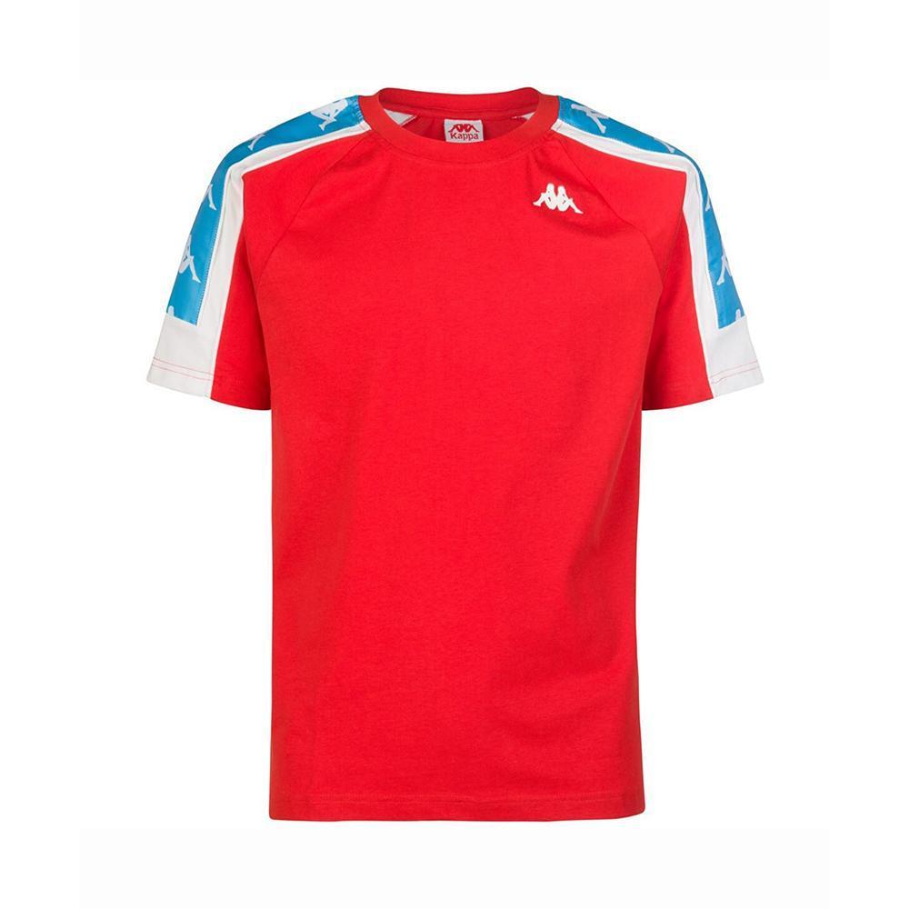 kappa kappa t-shirts uomo rosso bianco turchese 304i050