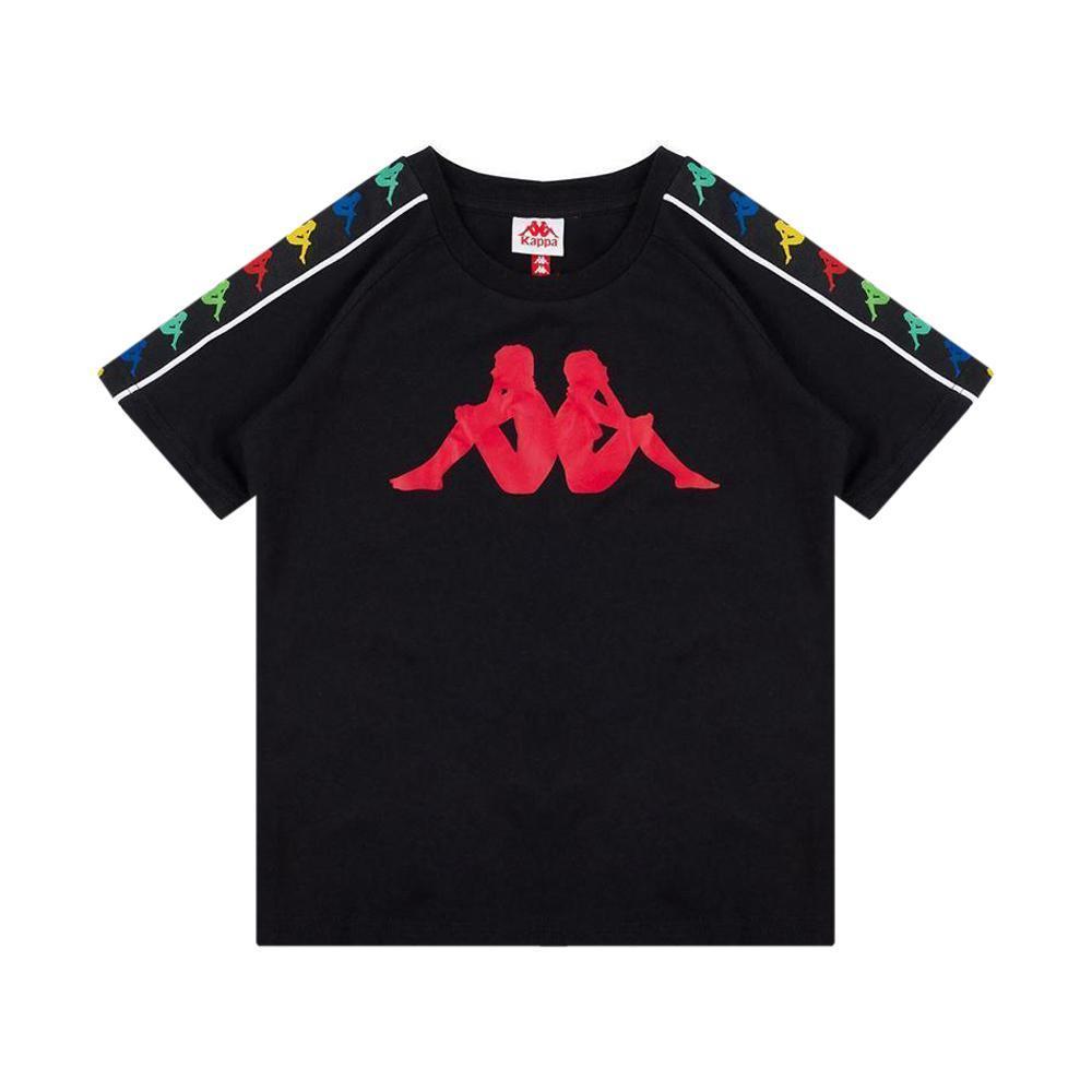 kappa kappa t-shirt bambino nero rosso 304kef0