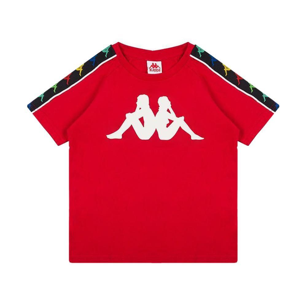 kappa kappa t-shirt junior rosso bianco 304kef0