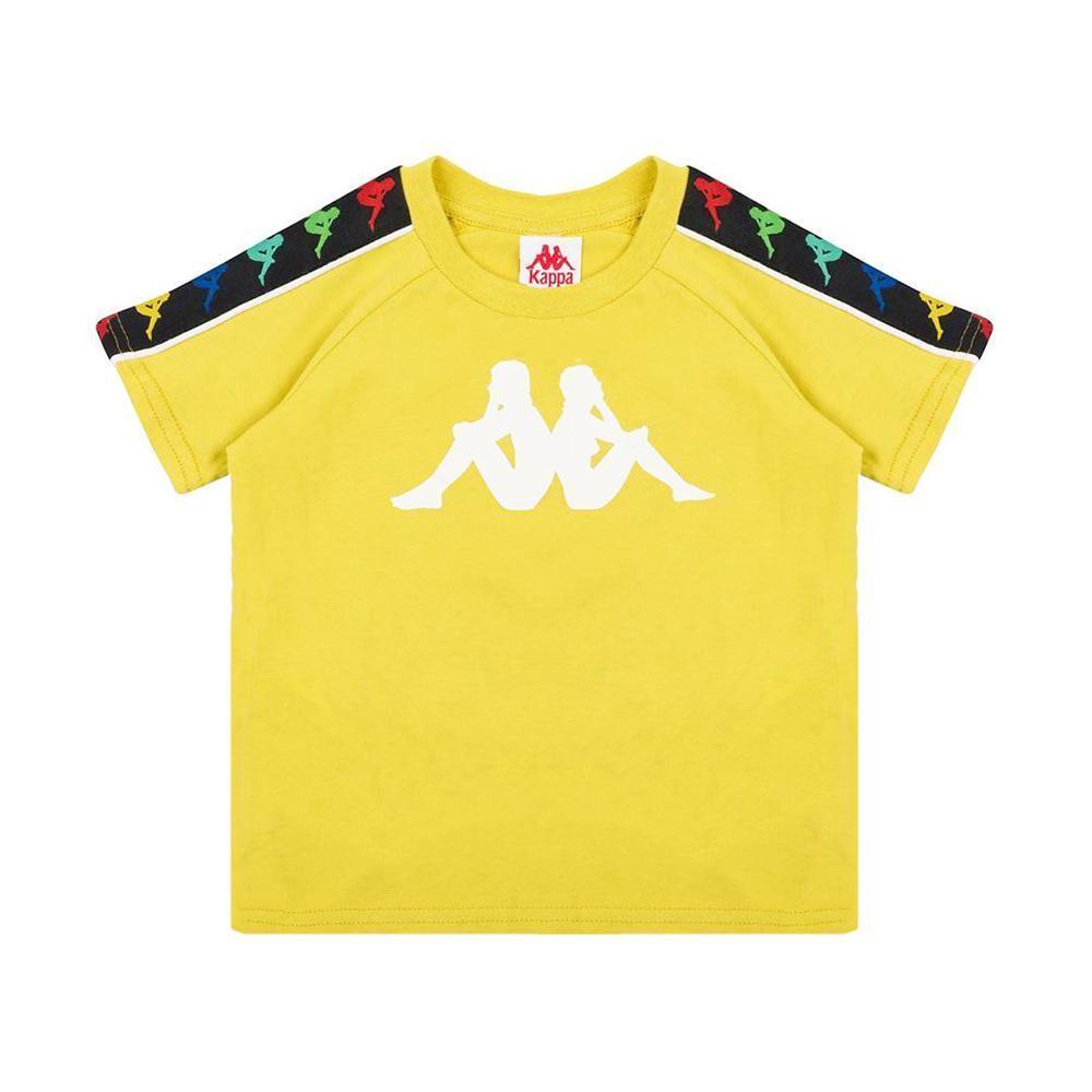 kappa kappa t-shirt junior giallo bianco 304kef0