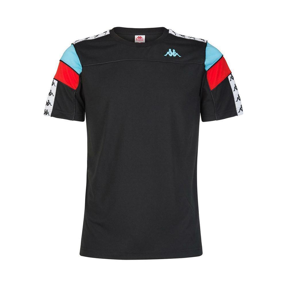 kappa kappa t-shirt bambino nero azzurro rosso 303wbs0