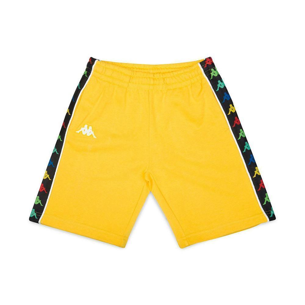 kappa kappa bermuda junior giallo bianco 3811b2w