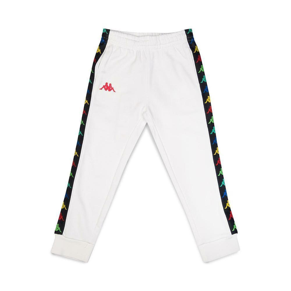 kappa kappa pantalone bambino bianco rosso 39114cw