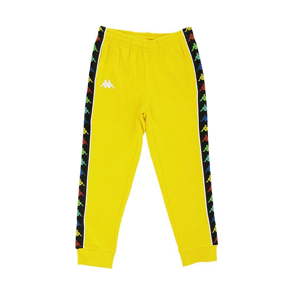 kappa kappa pantalone bambino giallo bianco 39114cw