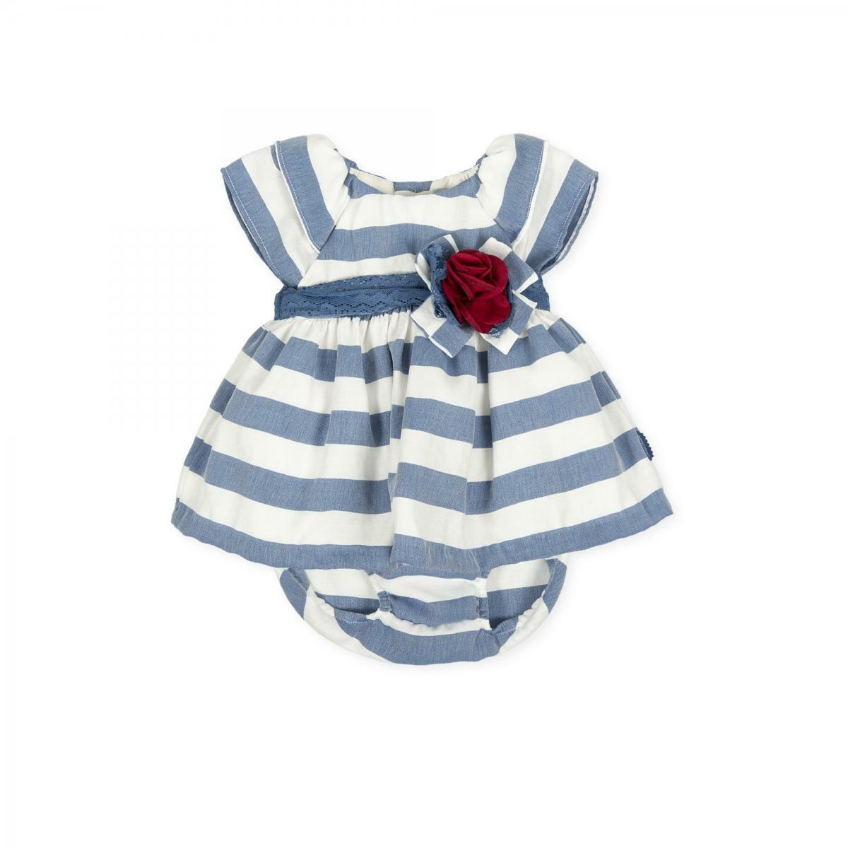 tutto piccolo tutto piccolo vestitino neonato blu 8233s20