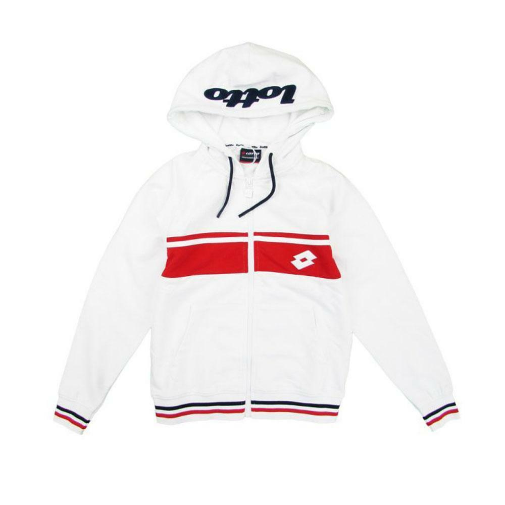 lotto lotto felpa zip/capp bambino bianco rosso  ltss09