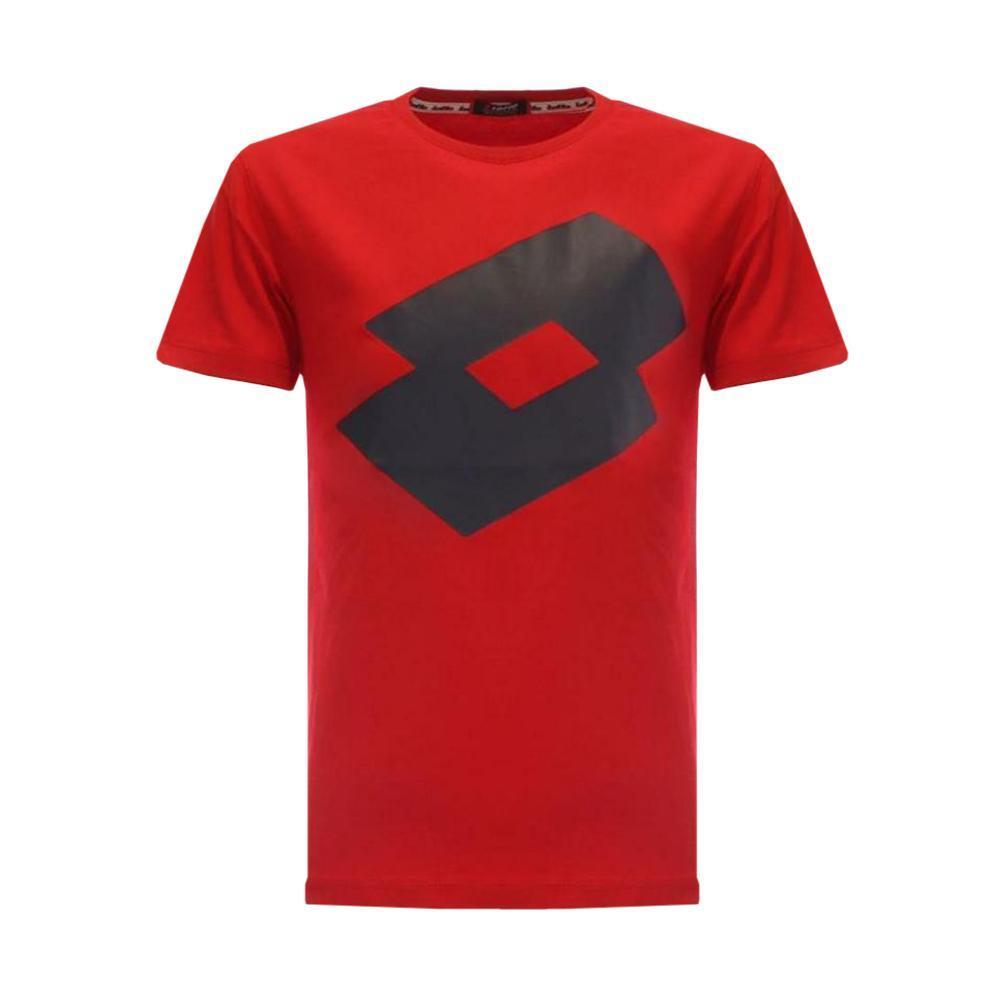 lotto lotto t-shirt bambino rosso ltss17