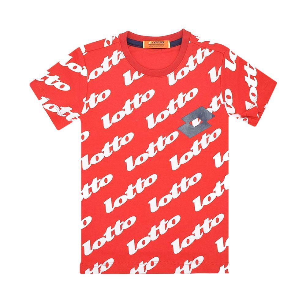 lotto lotto t-shirt bambino rosso ltbss63