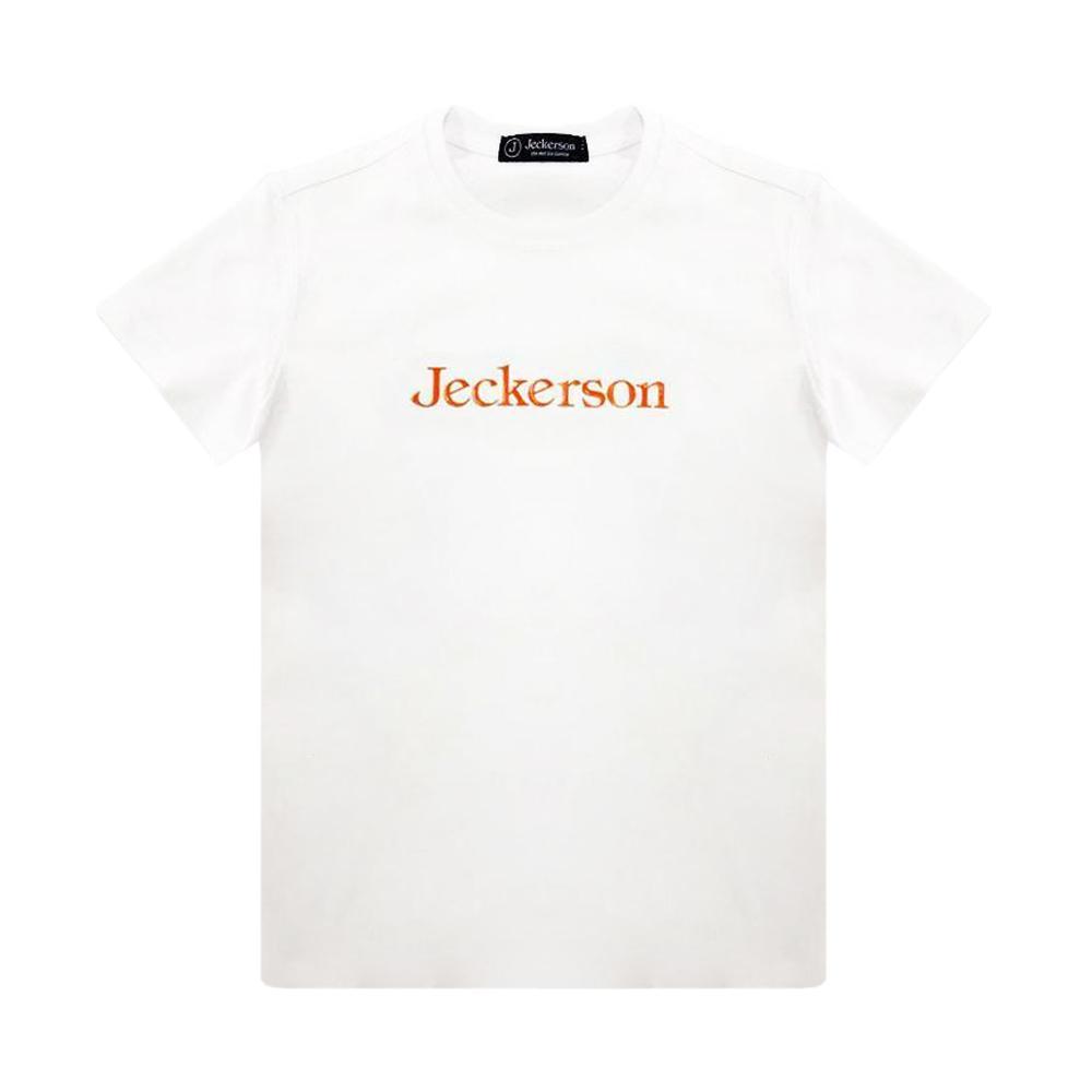 jeckerson jeckerson t-shirt  bambino  bianco arancio  jb1668