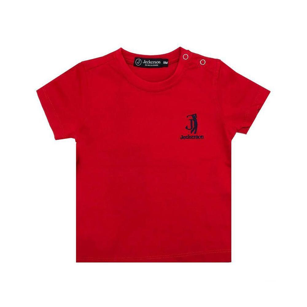 jeckerson jeckerson t-shirt neonato rosso jn1854