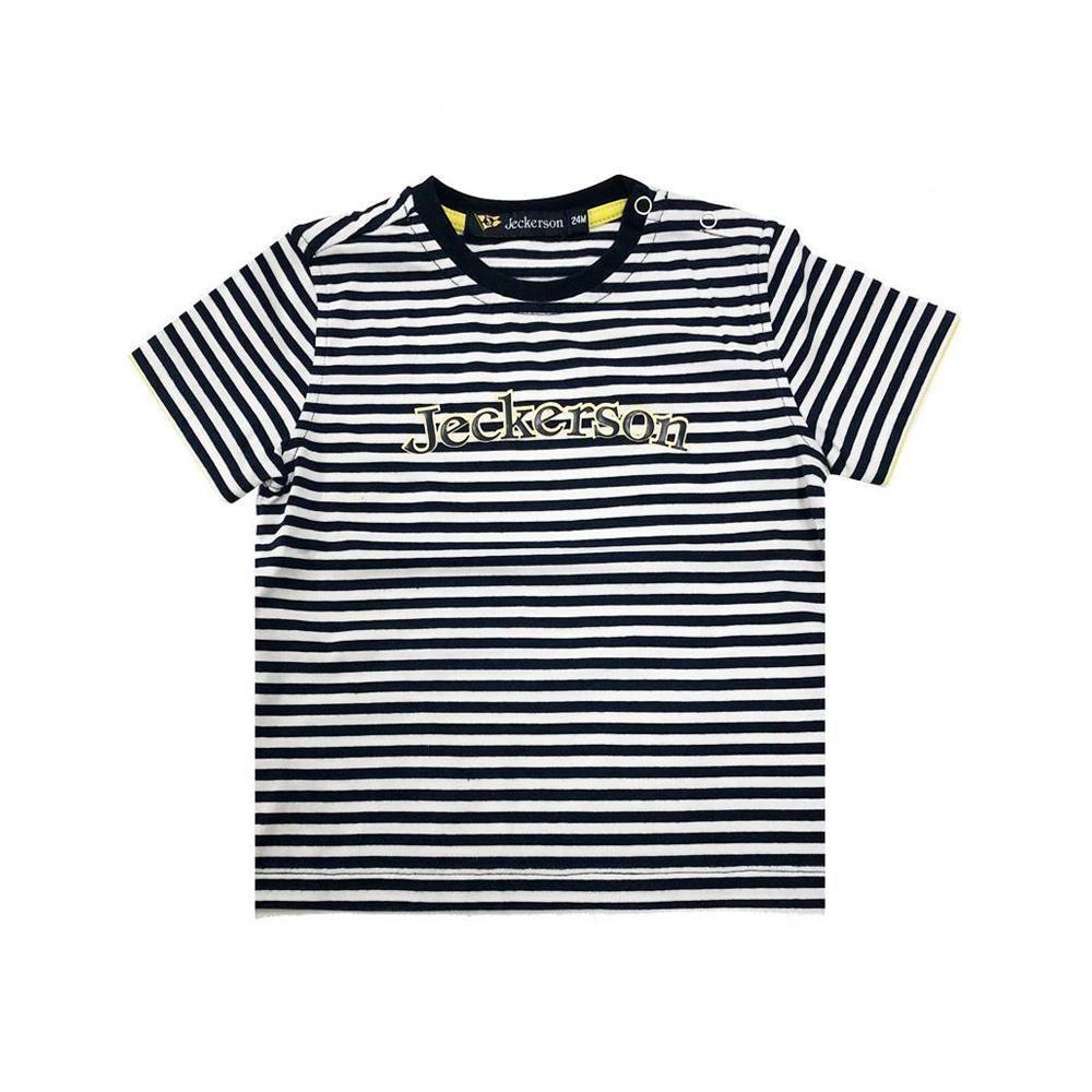 jeckerson jeckerson t-shirt  neonato bianco blu jn1809