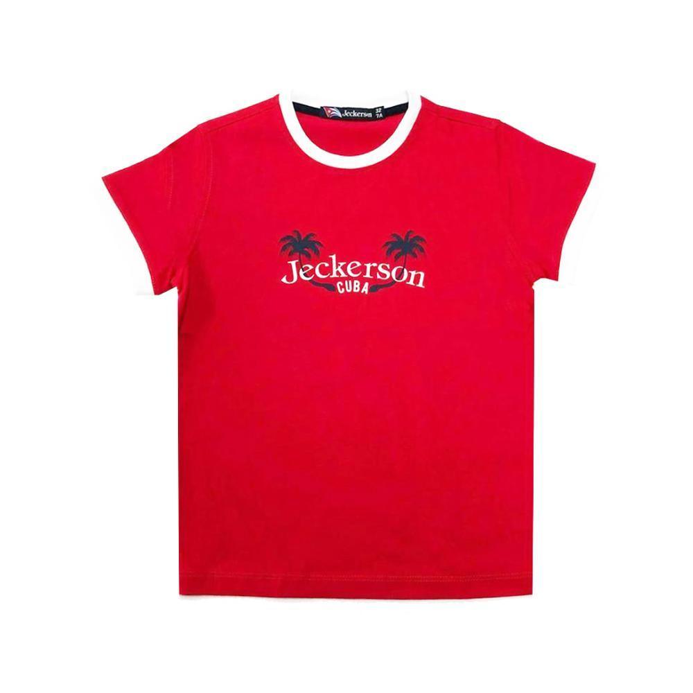 jeckerson jeckerson t-shirt bambino rosso jb1630