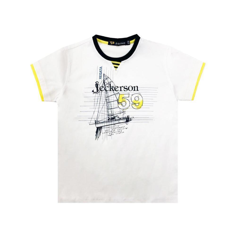 jeckerson jeckerson t-shirt  bambino bianco jb1607