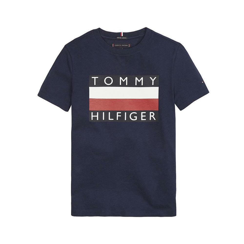 tommy hilfiger tommy hilfiger t-shirt bambino blu kb0kb055471