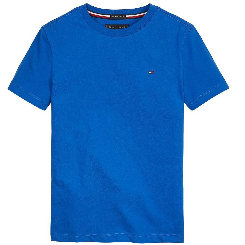 tommy hilfiger tommy hilfiger t-shirt bambino blu royal kb0kb05437