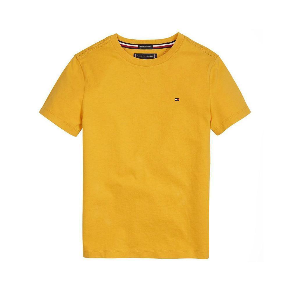 tommy hilfiger tommy hilfiger t-shirt bambino ocra kb0kb054371