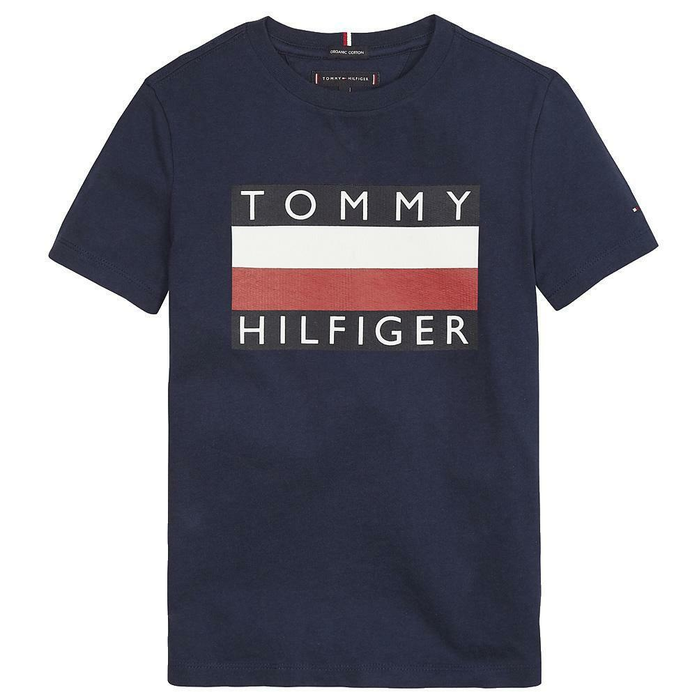 tommy hilfiger tommy hilfiger t-shirt bambino blu kb0kb05547