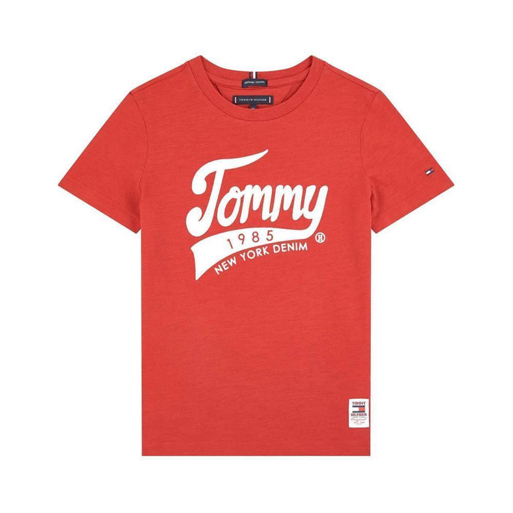 tommy hilfiger tommy hilfiger t-shirt bambino rosso kb0kb05497