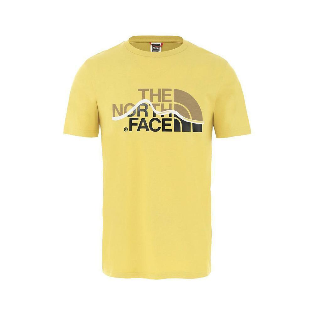 the north face the north face t-shirt uomo giallo nf00a3g2