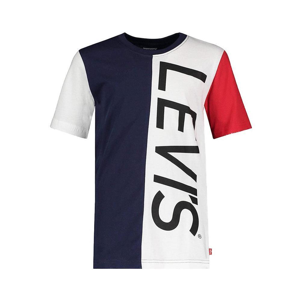 levis levis t-shirt bambino blu bianco  8ea995