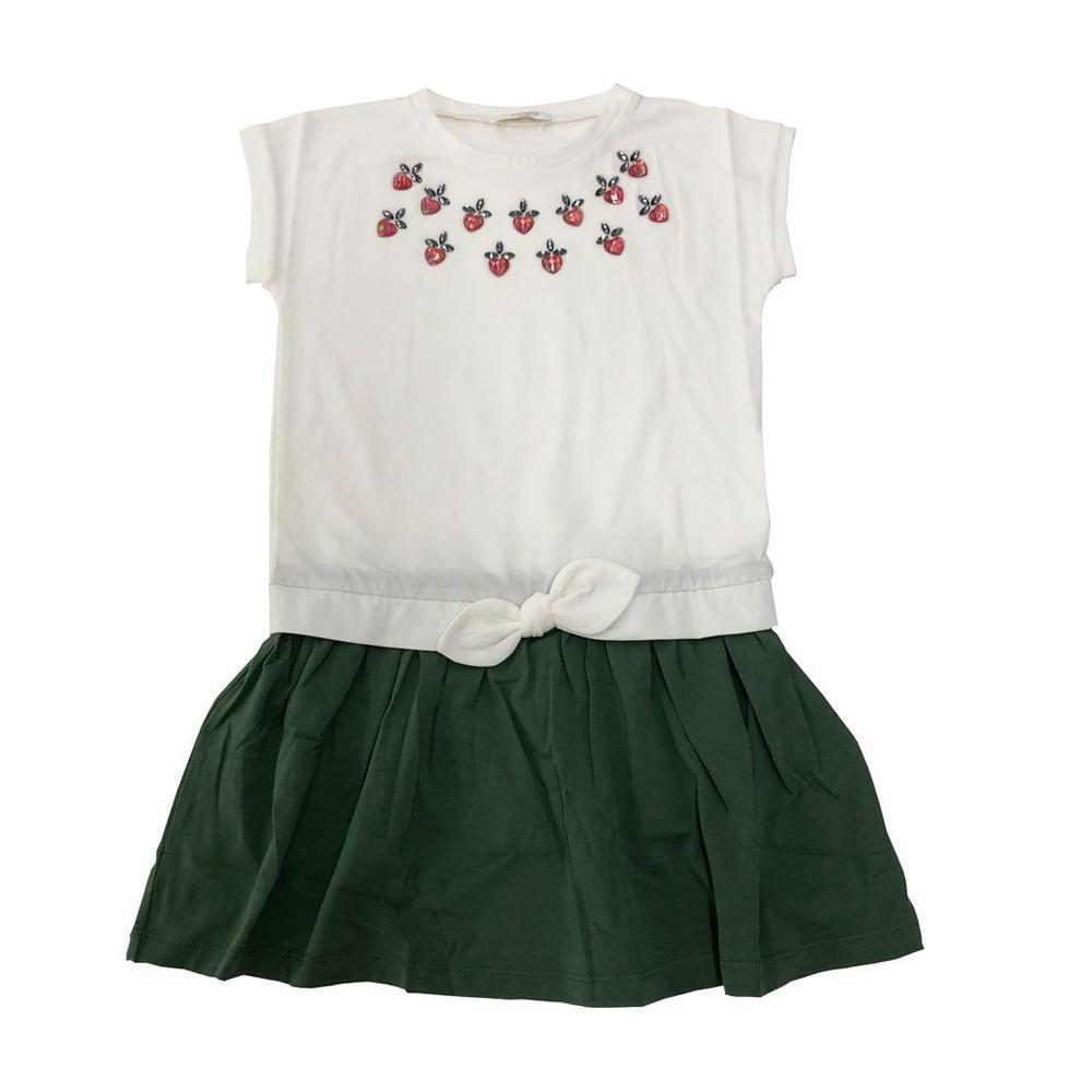liu jo liu jo abito bambina  bianco verde ka0139j5003
