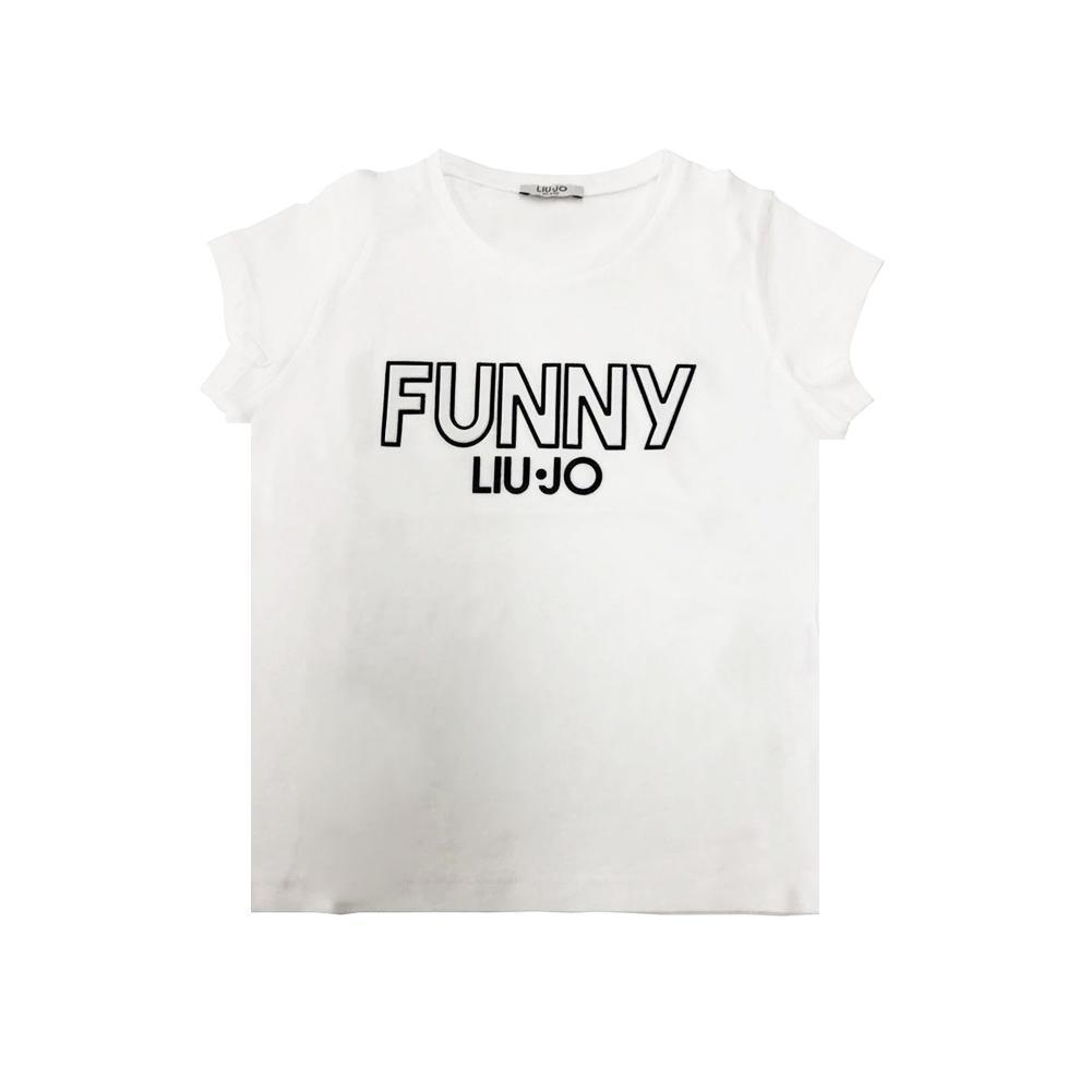 liu jo liu jo t-shirt ragazza  bianco nero ga0061j0166