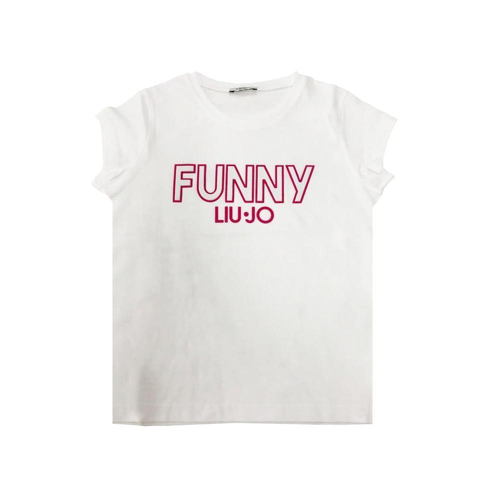 liu jo liu jo t-shirt ragazza bianco fuxia ga0061j0166