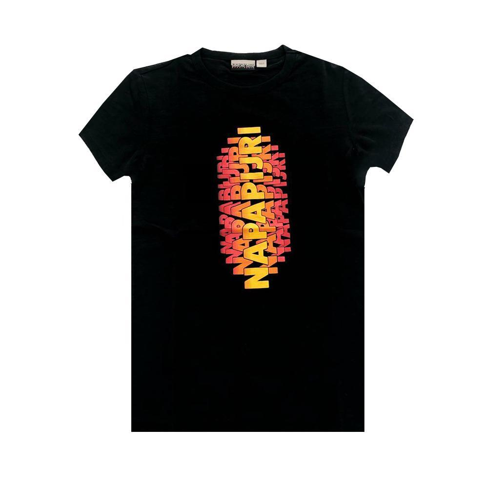 napapijri napapijri t-shirt junior nero np0a4e4z1