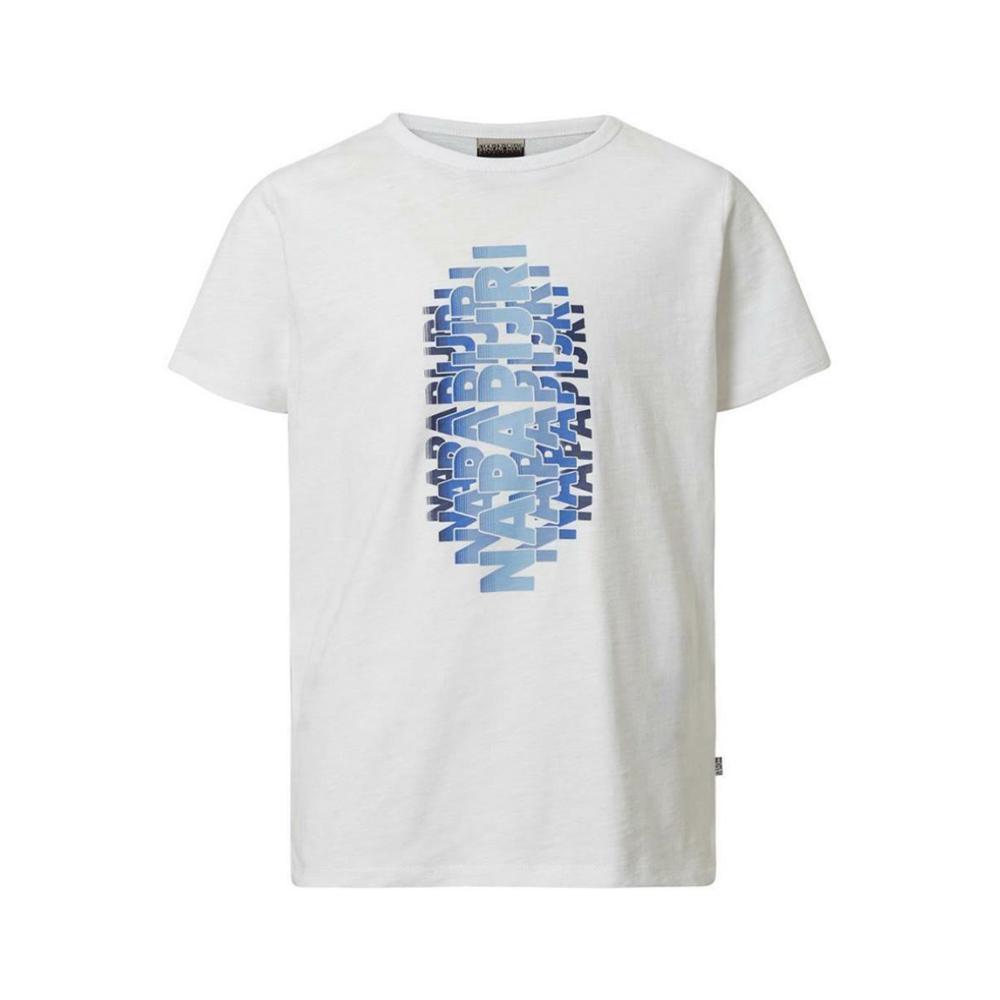 napapijri napapijri t-shirt bambino bianco np0a4e51