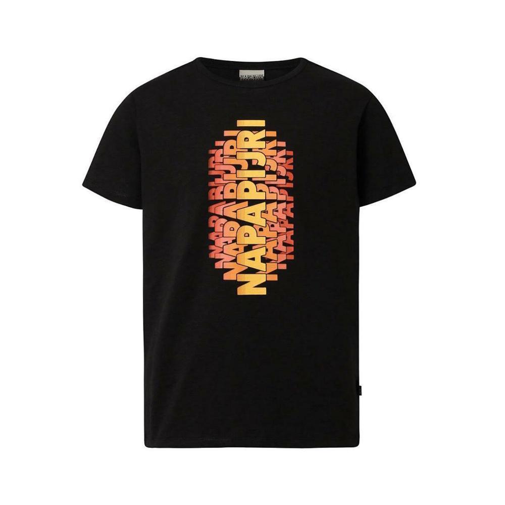 napapijri napapijri t-shirt bambino nero np0a4e4z