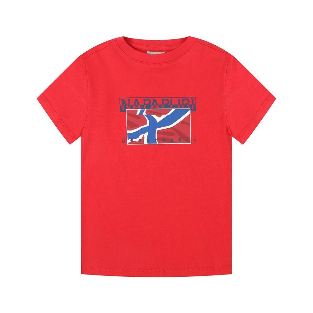 napapijri napapijri t-shirt bambino rosso np0a4e52
