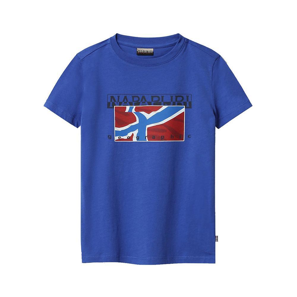 napapijri napapijri t-shirt bambino blu royal np0a4e52