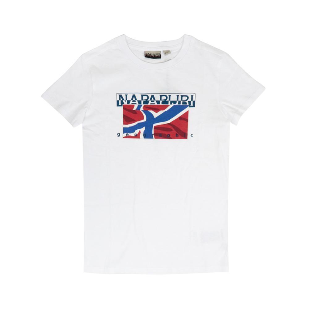 napapijri napapijri t-shirt bambino bianco np0a4e52