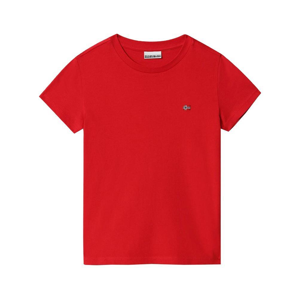 napapijri napapijri t-shirt bambino rosso np0a4ev2