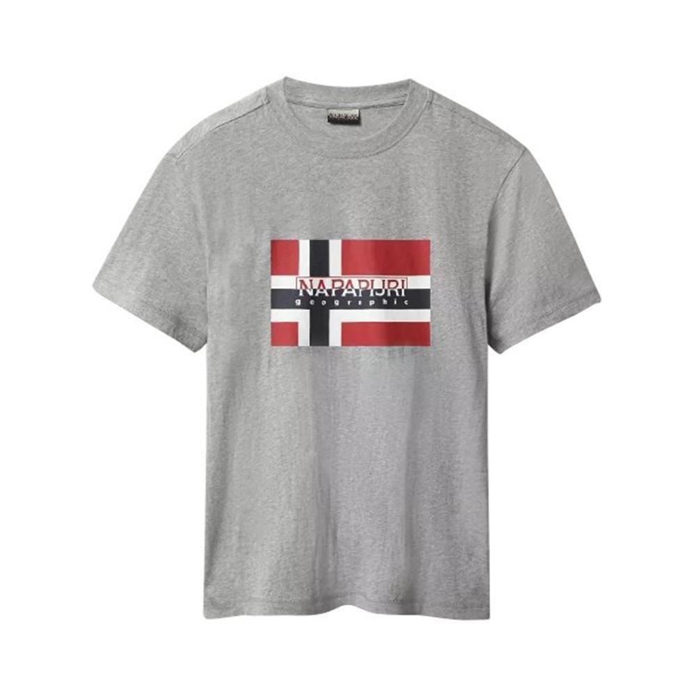 napapijri napapijri t-shirt uomo grigio np0a4e38