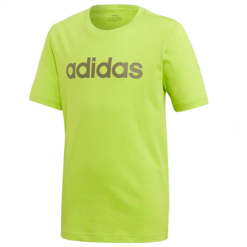 adidas adidas t-shirt bambino verde acido  grigio fm7041