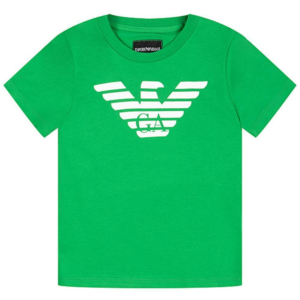 emporio emporio t-shirt  bambino verde 8n4t99-1jnqz