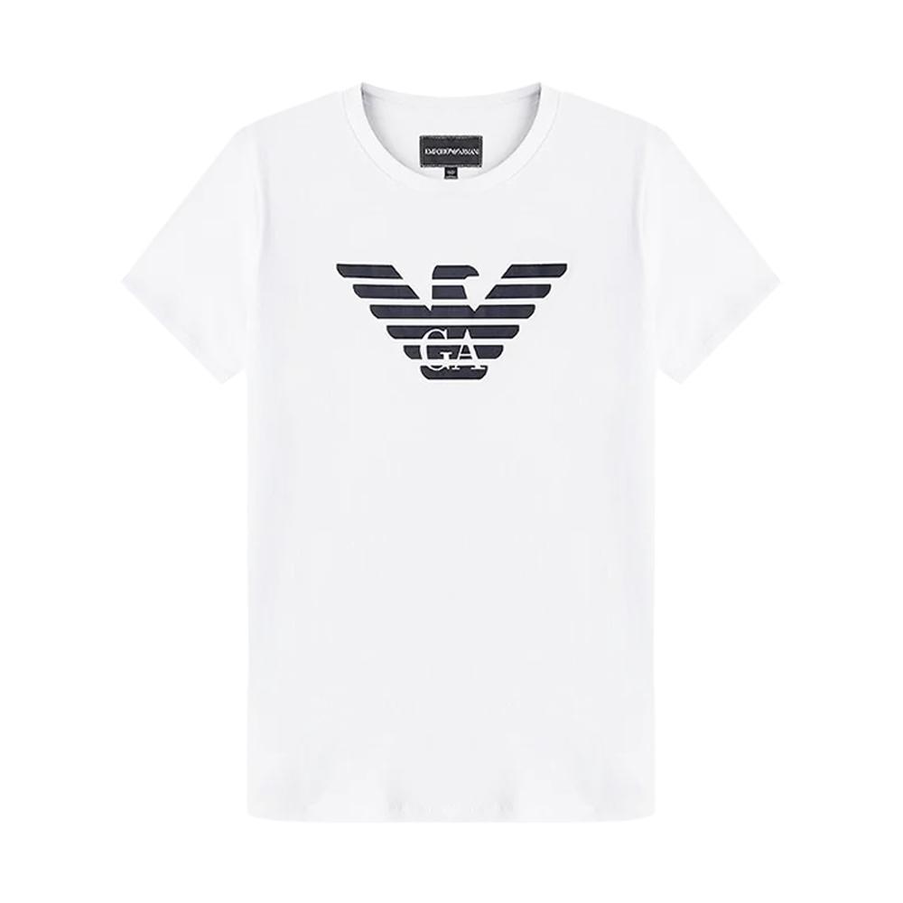emporio t-shirt  armani bambino bianco 8n4t99-1jnqz